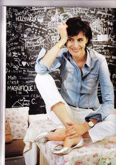 The April issue of British Vogue has a feature on the new Roger Vivier book and an interview with Ines de la Fressange, at home.