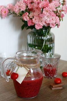 Cherries milkshake
