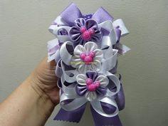 DIY decora balacas con moños y flores en cinta paso a paso. Manualidadeslahormiga - YouTube
