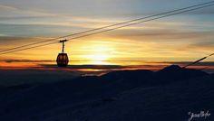 Jasna - Nizke Tatry - Slovakia Mountain Range, Airplane View, Skiing, Trail, Sunset, Landscape, Holiday, Nature, Outdoor
