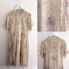 New productviolet rose sheer cotton dress #fab.#vintage #vintagefashion #1920s#1930s #ヴィンテージ #ビンテージ #ヴィンテージファッション #ヴィンテージワンピース #ヴィンテージドレス #古着 #すみれ #ばら