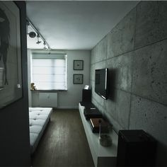 beton architektoniczny w salonie - Szukaj w Google Living Room Designs, Concrete, Flat Screen, Bathtub, Micro Cement, Interior Design, House Styles, Home Decor, Google
