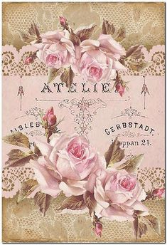 Pretty in pink Éphémères Vintage, Images Vintage, Decoupage Vintage, Decoupage Paper, Vintage Artwork, Vintage Labels, Vintage Ephemera, Vintage Pictures, Vintage Cards
