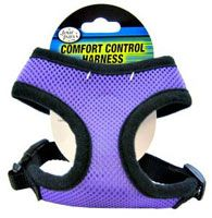 The most comfortable pet harness I've found, by the company Four Paws--no rubbing or bruising of their armpits. They also have matching leashes. My dog gets compliments on hers all the time :-)