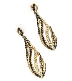 Black Stone Embellished Earrings #indianroots #jewellery #earrings #stone #embellished #occasionwear