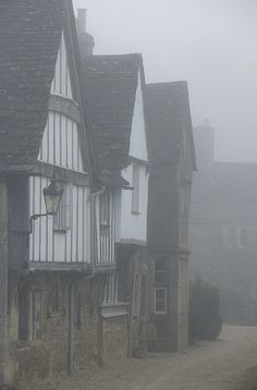 english-idylls: Lacock, Wiltshire, England by The Green Album. Lacock Wiltshire, Black And White Building, English Village, British Countryside, British Isles, Great Britain, Places To See, United Kingdom, Around The Worlds