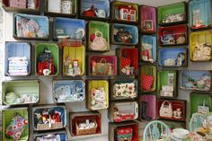 Cath Kidston Shop, York | painted crate display