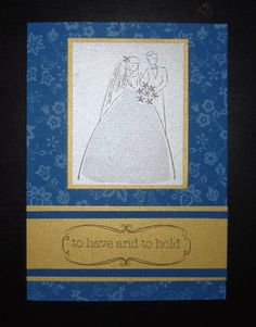 Blue wedding card by CookieKH - Cards and Paper Crafts at Splitcoaststampers
