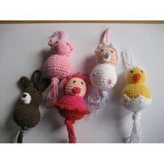 Gelukspoppetjes gehaakt, crochet