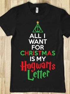 20 Harry Potter Gifts: Merchandise, Jewelry, Shirts, Mugs | Gurl.com... Perfect Christmas shirt