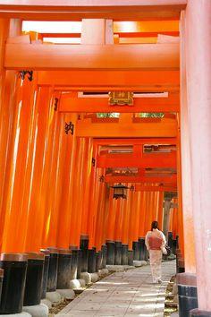 Torii gates - Fushimi Inari-taisha Shrine, Kyoto, Japan