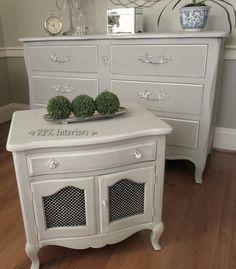 RPK Interiors: French Linen Dresser & Night Stand
