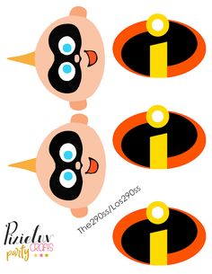 Centerpiece free printables Incredibles!
