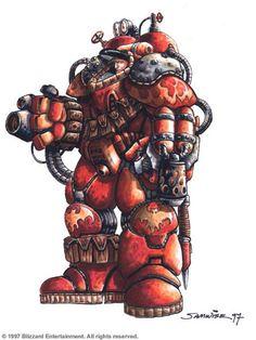 Starcraft Terran Firebat  http://samwisedidier.deviantart.com/art/StarCraft-Firebat-450377540
