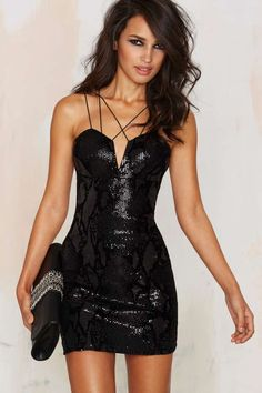 Rare London Roxbury Sequin Mini Dress - Nasty Gal
