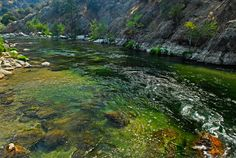 Looking down into the Kern River