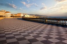 Terrazza Mascagni, Livorno overlooking the Tyrrhenian Sea.