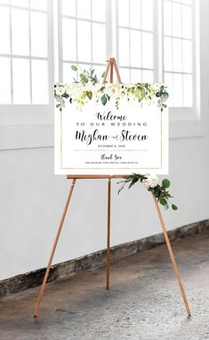 Wedding Welcome Sign Personalized Welcome Poster Various Bridal Shower Welcome Sign, Welcome To Our Wedding, Cream Roses, Blush Roses, Wedding Programs, Wedding Signs, Wedding Ideas, Welcome Poster, Photo Booth Frame