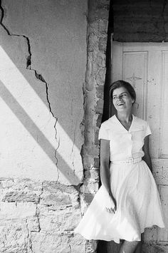 // The Farmer's Wife, Fochville, 1965 // by David Goldblatt - This image feels light and emphasises happiness and joy. The facial expression of this lady tells the viewer something about her which is what Goldblatt has aimed to do. Bw Photography, Vintage Photography, Street Photography, Pedro Martinelli, Old Photos, Vintage Photos, Olivia Parker, David Goldblatt, Old Fashioned Photos