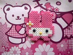 My Melody Necklace perler beads by BecsKittysCreations