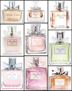 Dior perfume collection...beautiful!