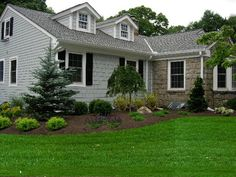 Love the simple look of the landscaping.