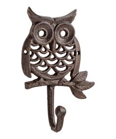 Look what I found on #zulily! Cast Iron Owl Wall Hook #zulilyfinds