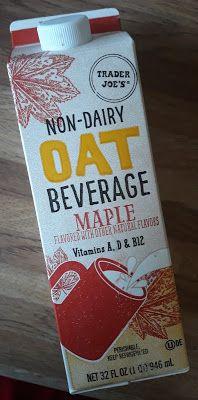 What's Good at Trader Joe's?: Trader Joe's Non-Dairy Maple Oat Beverage Zoom Call, Pumpkin Spice Latte, Ol Days, Trader Joes, Good Ol, Drink Bottles, Beverages, Dairy, Nova