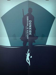 Dunkirk (2017) ~ Minimal Movie Poster by Daryl Lopez  #amusementphile