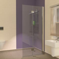 Space saving Hinged Wet Room Screens designed for use with Vinyl Flooring
