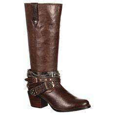Durango Women's 14 Accessorize Philly Cowboy Boot - Brown 10, Espresso Brown