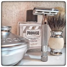 August 16th 2017 - Shave of the day  #Rockwell 2C safety razor (CA)  #Rockwell stainless steel blade (CA)  #lOccitane shaving soap (FR)  #Proraso #aftershave #balm (ITA)  #silvertip #badger brush (CHN)  #wetshaving #shaveoftheday #toiletries #shavelikeaman #shavingculture #thebigshave #classicshave #derazor #vintageshave #worldshave #safetyrazor #vintage #like4like #instagood #photography #perfume #perfum #духи Straight Razor Shaving, Shaving Razor, Shaving Brush, Shaving Soap, Classic Shaving, Perfume Display, Safety Razor, Beard Care, Men's Grooming