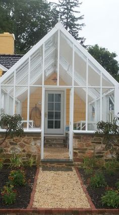 Gazebos And Greenhouses - page 7...this would be so pretty of the back of the garage!