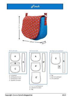 New Sewing Purses And Bags English Ideas Purse Patterns, Sewing Patterns Free, Free Pattern, Sewing Projects For Beginners, Sewing Tutorials, Sewing Crafts, Free Tutorials, Diy Sac, Denim Bag