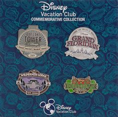 Disney Vacation Club Walt Disney World 2015 Pin Set.