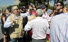 el ventano: Agreden a periodistas en una manifestación anti Po...