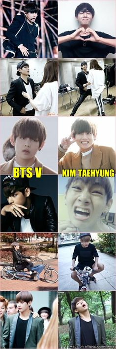 The difference between BTS V and Kim Taehyung Jimin, Bts Bangtan Boy, Jhope, Bts Memes, Funny Memes, V Taehyung, Namjoon, Super Junior, K Pop