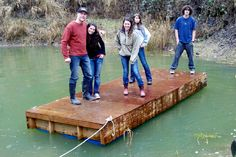 how to make a boat dock with plastic barrels