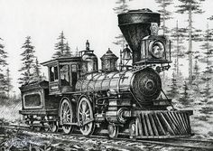 The Age Of Steam Drawing  - The Age Of Steam Fine Art Print