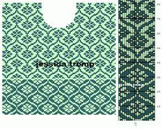 MES FAVORIS TRICOT-CROCHET: Le jacquard Fair Isle Knitting Patterns, Knitting Charts, Knitting Stitches, Crochet Cross, Crochet Chart, Thread Crochet, Norwegian Knitting, Graph Design, Tapestry Crochet