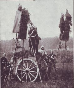 German field observation ladders - Battle of the Aisne