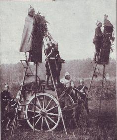 German field observation ladders - Battle of the Aisne