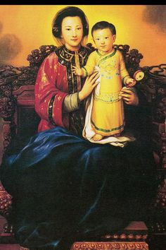 Our Lady of China. Mary relates to all people and cultures. Blessed Mother Mary, Divine Mother, Blessed Virgin Mary, Pictures Of Mary, Images Of Mary, Catholic Art, Religious Art, Queen Of Heaven, Mama Mary