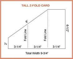 Tall Z-Fold Card: