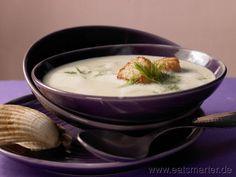 Feine Fenchelcremesuppe mit Jakobsmuscheln und Safran - smarter - Kalorien: 223 Kcal | Zeit: 60 min.