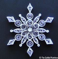 Quilled Snowflake Handmade Christmas Ornament by TheQuilledRainbow, $10.99