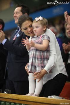 October 20, 2013 - Crown Princess Victoria, Prince Daniel, & Princess Estelle watched the final of the Stockholm Open tennis at the tennis hall Royal Stockholm