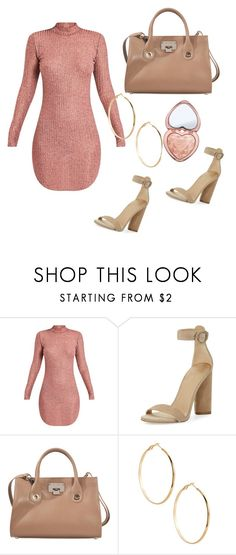 """rose gold"" by valeria-arcos on Polyvore featuring Kendall + Kylie, Jimmy Choo, GUESS by Marciano and Too Faced Cosmetics"