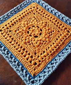 "Duckbill Dalliance 12"" Afghan Block ~ free pattern ᛡ"