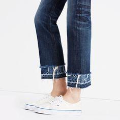"Rivet & Thread High-Rise Boyjeans: Double-Hem Edition in ""Clara wash"" All Jeans, Girls Jeans, Jean Diy, Denim Art, Mode Jeans, Denim Trends, Denim Fashion, Sneakers Fashion, Looks Style"